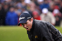 Shane Lowry misses his putt on the 72nd hole in the final round of the Irish Open on 17th of May 2009 at Baltray, Co. Louth, Ireland. (Photo by Manus O'Reilly/GOLFFILE)
