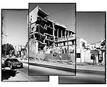 Location: Gaza City..The remains of the Legislative Council building