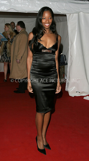 WWW.ACEPIXS.COM . . . . .  ... . . . . US SALES ONLY . . . . .....LONDON, FEBRUARY 16, 2005....Jamelia at the Mo't & Chandon Fashion Tribute to Matthew Williamson held at Billingsgate Market.....Please byline: FAMOUS-ACE PICTURES-M. GILLIAM... . . . .  ....Ace Pictures, Inc:  ..Philip Vaughan (646) 769-0430..e-mail: info@acepixs.com..web: http://www.acepixs.com