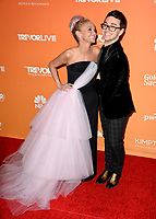 Christian Siriano &amp; Kristin Chenoweth at the 2017 TrevorLIVE LA Gala at the beverly Hilton Hotel, Beverly Hills, USA 03 Dec. 2017<br /> Picture: Paul Smith/Featureflash/SilverHub 0208 004 5359 sales@silverhubmedia.com