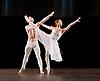 English National Ballet <br /> at Sadler's Wells, London, Great Britain <br /> rehearsal<br /> 22nd March 2017 <br /> <br /> <br /> Adagio Hammerklavier <br /> by Hans van Manen <br /> <br />  <br /> Laurretta Summerscales <br /> James Forbat <br /> <br /> <br /> <br /> Photograph by Elliott Franks <br /> Image licensed to Elliott Franks Photography Services