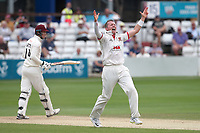 Peter Siddle of Essex appeals for the wicket of George Bartlett during Essex CCC vs Somerset CCC, Specsavers County Championship Division 1 Cricket at The Cloudfm County Ground on 25th June 2019