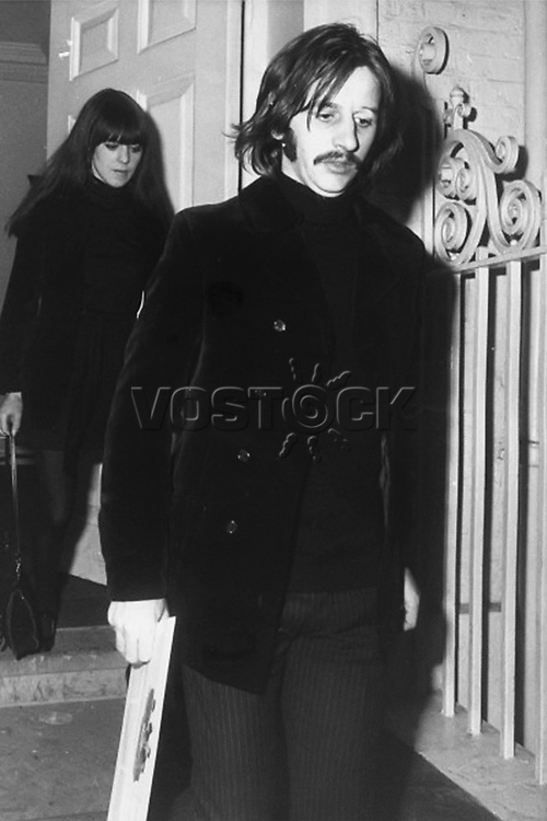 Beatle Ringo Starr leaving Apple Records' office, January 16, 1969.