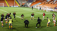 Blackpool during the pre-match warm-up <br /> <br /> Photographer Rachel Holborn/CameraSport<br /> <br /> The EFL Checkatrade Trophy Group C - Blackpool v Accrington Stanley - Tuesday 13th November 2018 - Bloomfield Road - Blackpool<br />  <br /> World Copyright © 2018 CameraSport. All rights reserved. 43 Linden Ave. Countesthorpe. Leicester. England. LE8 5PG - Tel: +44 (0) 116 277 4147 - admin@camerasport.com - www.camerasport.com