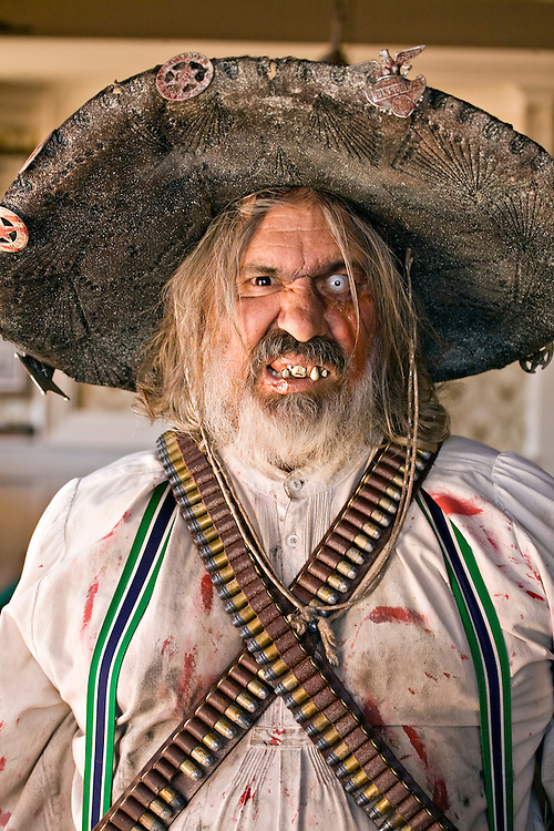 Male historical reenactor in Tombstone, Arizona