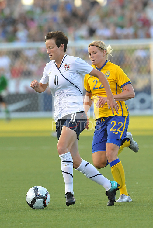 Megan Rapinoe...USWNT tied Sweden 1-1 at Morison Stadium, Nebraska.