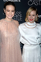 Brie Larson und Naomi Watts bei der Premiere des Kinofilms 'The Glass Castle / Schloss aus Glas' im SVA Theater. New York, 09.08.2017