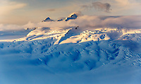 Spring landscape aerial view of snow-covered Chugach Mountains, glaciers and ice fields  in southcentral Alaska  <br /> <br /> (C) Jeff Schultz/SchultzPhoto.com  ALL RIGHTS RESERVED