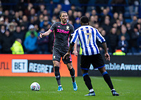 Leeds United's Luke Ayling competing with Sheffield Wednesday's Kadeem Harris (right) <br /> <br /> Photographer Andrew Kearns/CameraSport<br /> <br /> The EFL Sky Bet Championship - Sheffield Wednesday v Leeds United - Saturday 26th October 2019 - Hillsborough - Sheffield<br /> <br /> World Copyright © 2019 CameraSport. All rights reserved. 43 Linden Ave. Countesthorpe. Leicester. England. LE8 5PG - Tel: +44 (0) 116 277 4147 - admin@camerasport.com - www.camerasport.com