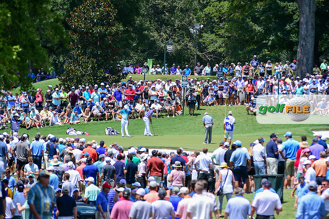 Blue skies and warm weather drew record Thursday crowds out to witness Thursday's round 1 of the PGA Championship at the Quail Hollow Club in Charlotte, North Carolina. 8/10/2017.<br /> Picture: Golffile | Ken Murray<br /> <br /> <br /> All photo usage must carry mandatory copyright credit (&copy; Golffile | Ken Murray)