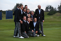 European Team pose for final pictures after winning the 2014 Ryder Cup from Gleneagles, Perthshire, Scotland. Picture:  David Lloyd / www.golffile.ie