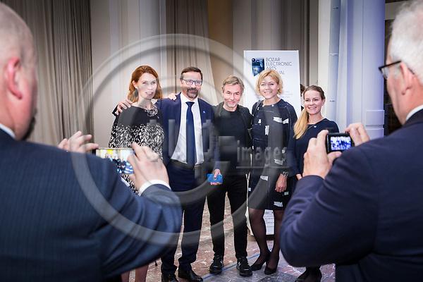BRUSSELS - BELGIUM - 27 September 2017 -- Finland 100th Anniversary Reception and Concert of the Philharmonia Orchestra of London at the BOZAR. -- Esa-Pekka Salonen, Conductor of the Philharmonia Orchestra of London. MEP Henna VIRKKUNEN. -- PHOTO: Juha ROININEN / EUP-IMAGES