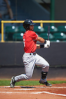 Great Lakes Loons outfielder Nick Sell (6) at bat during a game against the Clinton LumberKings on August 16, 2015 at Ashford University Field in Clinton, Iowa.  Great Lakes defeated Clinton 3-2 in ten innings.  (Mike Janes/Four Seam Images)