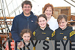 JEANIE DAY: Having a great on board the Jeanie Johnston on Saturday l-r: Liam, Finoula, Faye, Roisin and Moira Curran.   Copyright Kerry's Eye 2008