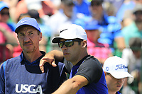 Paul Casey (ENG) and caddy John Mclaren on the 1st tee to start his match during Thursday's Round 1 of the 117th U.S. Open Championship 2017 held at Erin Hills, Erin, Wisconsin, USA. 15th June 2017.<br /> Picture: Eoin Clarke | Golffile<br /> <br /> <br /> All photos usage must carry mandatory copyright credit (&copy; Golffile | Eoin Clarke)