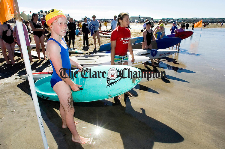 Nippers get ready for a heat at the Irish National Surf Lifesaving championships in Kilkee. Photograph by John Kelly.