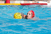 Stanford, CA - April 28, 2019: Chloe Harbilas during the Stanford vs USC MPSF Women's Water Polo Championship Sunday at the Avery Aquatic Center.<br /> <br /> No. 1 Stanford lost the MPSF Championship in sudden death to the No. 2 Trojans, 9-8.