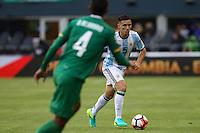 Seattle, WA - Tuesday June 14, 2016: Matias Kranevitter during a Copa America Centenario Group D match between Argentina (ARG) and Bolivia (BOL) at CenturyLink Field.