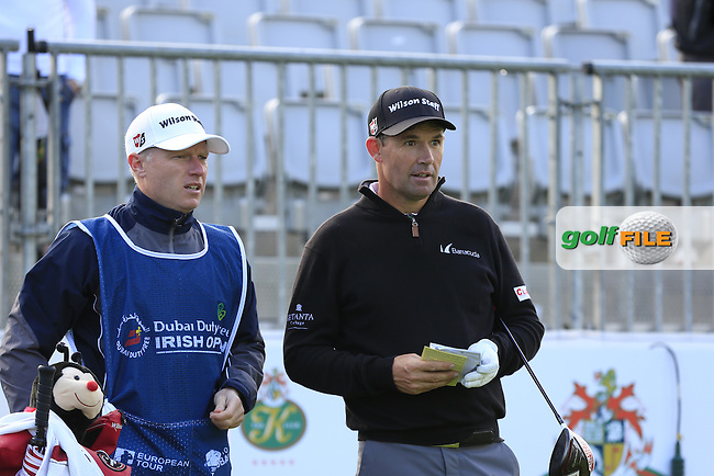 Padraig Harrington (IRL) team in action during Wednesday's Pro-Am of the 2016 Dubai Duty Free Irish Open hosted by Rory Foundation held at the K Club, Straffan, Co.Kildare, Ireland. 18th May 2016.<br />