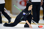 Yumie Funayama (Fortius), SEPTEMBER 13, 2013 - Curling : Olympic qualifying Japan Curling Championships Women's Round Robin Match between Fortius 9-3 LS Kitami at Dogin Curling Stadium, Sapporo, Hokkaido, Japan. (Photo by Hitoshi Mochizuki/AFLO)