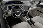 High angle dashboard view of a 2012 Honda Civic Sedan DX
