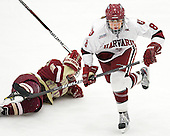 Alex Carpenter (BC - 5), Hilary Crowe (Harvard - 8) - The Boston College Eagles defeated the Harvard University Crimson 4-2 in the 2012 Beanpot consolation game on Tuesday, February 7, 2012, at Walter Brown Arena in Boston, Massachusetts.