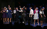Julie Halston, Reggie Jackson, Danny Burstein, Maggie Gyllenhaal, Whoopi Goldberg, Matthew Morrison, Victoria Clark, Adrienne Warren and cast during the Curtain Call for the Roundabout Theatre Company presents a One-Night Benefit Concert Reading of 'Damn Yankees' at the Stephen Sondheim Theatre on December 11, 2017 in New York City.