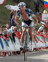 Sergey Lagutin during the stage of La Vuelta 2012 between La Robla and Lagos de Covadonga.September 2,2012. (ALTERPHOTOS/Acero) /NortePhoto.com<br /> <br /> **CREDITO*OBLIGATORIO** <br /> *No*Venta*A*Terceros*<br /> *No*Sale*So*third*<br /> *** No*Se*Permite*Hacer*Archivo**<br /> *No*Sale*So*third*