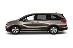 Car driver side profile view of a 2018 Honda Odyssey EX-L 5 Door Mini Van