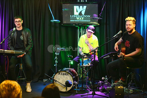 BALA CYNWYD, PA - APRIL 20 :  alt-j visit Radio 104.5 performance studio in Bala Cynwyd, Pa on April 20, 2017  photo credit Star Shooter / MediaPunch