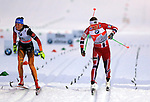 Stefanie Boehler, Astrid JACOBSEN in action during the Women 5 km Classic Individual in Val Di Fiemme<br /> <br /> &copy; Pierre Teyssot