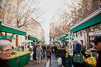Daily fruit and vegetable market 'Marché des Capucins' in the Noailles district of Marseille, France, 04 February 2013