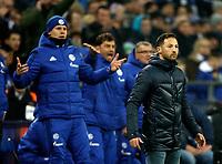 Gelsenkirchen, Germany, 1. Football- BL,  match day 19,<br />FC Schalke 04 - Hannover 96 1-1am <br />21. 01. 2018  in Veltins -Arena auf Schalke  in Gelsenkirchen<br />Trainer Domenico TEDESCO (S04) -