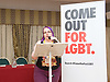 Stonewall and Liberal Democrats LGBTQ fringe meeting.<br /> Bournemouth, Great Britain <br /> 17th September 2017. <br /> <br /> Jennie Rigg<br /> Chair <br /> Jennie is chair of Calderdale Liberal Democrats and sits on the Yorkshire regional candidates committee. <br /> <br /> Photograph by Elliott Franks <br /> Image licensed to Elliott Franks Photography Services