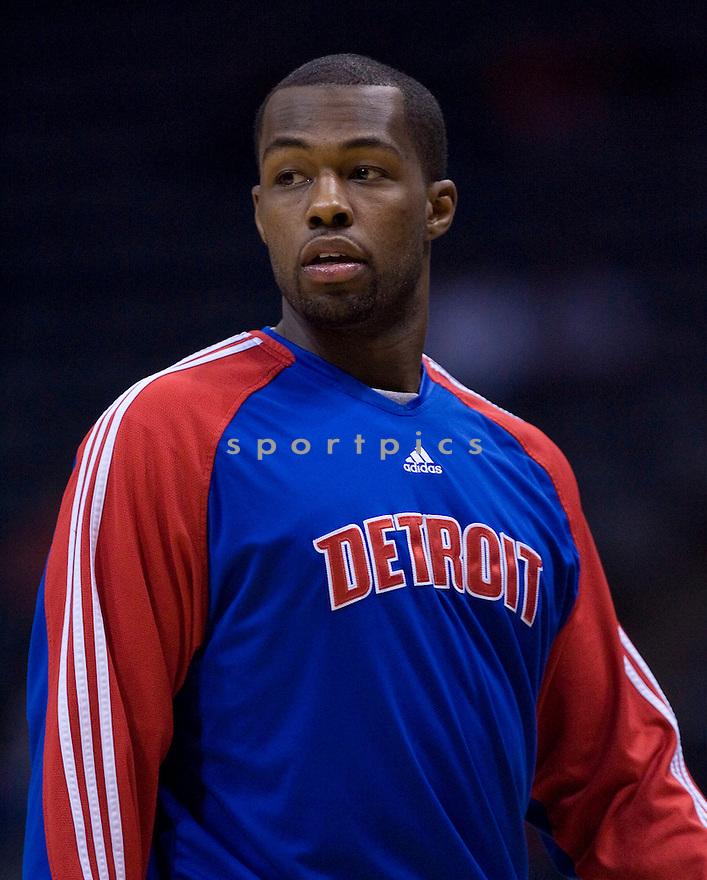 Rodney Stuckey.\.Milwaukee Bucks lost to the Detroit Pistons 81-93.