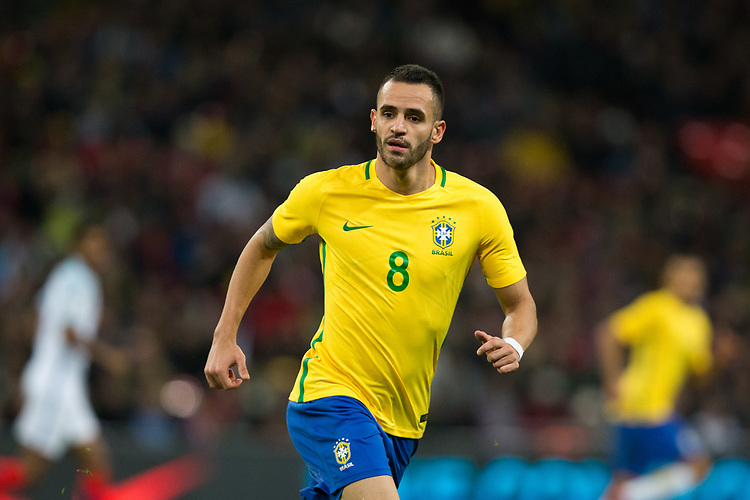 Brazil&rsquo;s Renato Augusto <br /> <br /> Photographer Craig Mercer/CameraSport<br /> <br /> The Bobby Moore Fund International - England v Brazil - Tuesday 14th November 2017 Wembley Stadium - London  <br /> <br /> World Copyright &copy; 2017 CameraSport. All rights reserved. 43 Linden Ave. Countesthorpe. Leicester. England. LE8 5PG - Tel: +44 (0) 116 277 4147 - admin@camerasport.com - www.camerasport.com