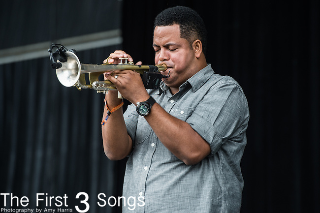 Marcus Hubbard of The Soul Rebels performs at the Outside Lands Music & Art Festival at Golden Gate Park in San Francisco, California.
