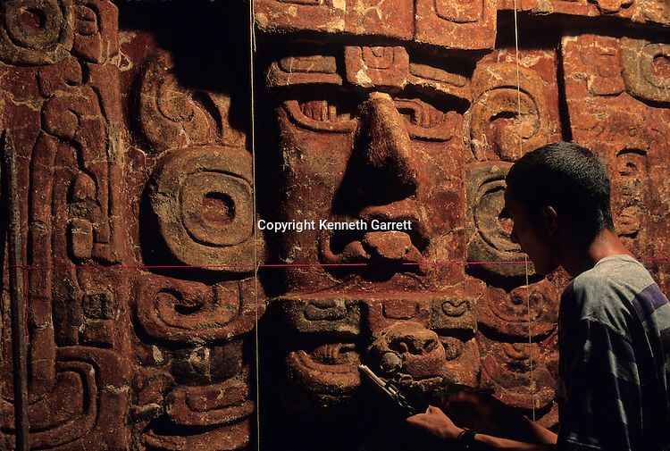 Copan; Honduras; Maya; Hunal Structure; Mask Decorations