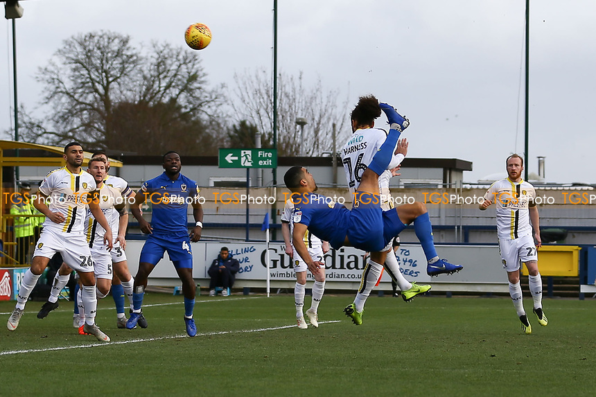 Kwesi Appiah of AFC Wimbledon has a shot at goal during AFC Wimbledon vs Burton Albion, Sky Bet EFL League 1 Football at the Cherry Red Records Stadium on 9th February 2019
