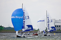 Medemblik - the Netherlands, May 28th 2010. Delta Lloyd Regatta in Medemblik (26/30 May 2010). Day 3. Matchracing.