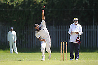 U Mahmmod takes the wicket of A Midgya and celebrates  during Newham CC vs Barking CC, Essex County League Cricket at Flanders Playing Fields on 10th June 2017