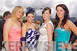 Niamh O'Brien, Mary O'Riordan, Ytiona Evans and Trish Flemming from Killarney pictured at Killarney Races Ladies day on Thursday.