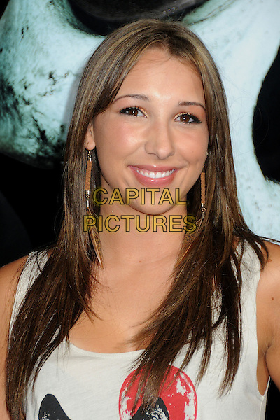 "Ashley Edner.""Final Destination 5"" Los Angeles Special Screening held at Grauman's Chinese Theatre, Hollywood, California, USA..August 10th, 2011.headshot portrait white   .CAP/ADM/BP.©Byron Purvis/AdMedia/Capital Pictures."