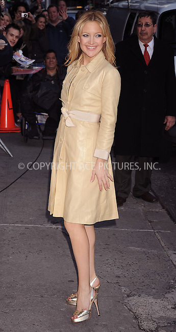 WWW.ACEPIXS.COM . . . . . ....February 7 2008, New York City....Actress Kate Hudson arriving at the 'Late Show with David Letterman' at the Ed Sullivan theater in midtown Manhattan.....Please byline: KRISTIN CALLAHAN - ACEPIXS.COM.. . . . . . ..Ace Pictures, Inc:  ..(646) 769 0430..e-mail: info@acepixs.com..web: http://www.acepixs.com