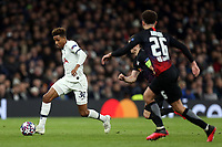 Ethan Ampadu of RB Leipzig  and Gedson Fernandes of Tottenham Hotspur during Tottenham Hotspur vs RB Leipzig, UEFA Champions League Football at Tottenham Hotspur Stadium on 19th February 2020