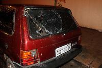SAO PAULO, SP, 18 DE JANEIRO 2012 - EXPLOSÃO REGIAO CENTRAL SP - Veículo que foi atingido após uma caixa subterrânea de energia explodir na altura do número 150 da Rua Doutor Frederico Steidel, no bairro Santa Cecília, no centro de São Paulo, na noite de ontem terça-feira, 17. (FOTO: VANESSA CARVALHO - NEWS FREE).