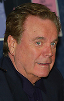 ***FILE PHOTO*** ***Robert Wagner Deemed A Person Of Interest In The Death Of Natalie Wood***<br /> The Pink Panther 40th Anniversary Celebration! Robert Wagner promotes the new DVD boxed set, The Pink Panther Film Collection, with an in-store appearance and autograph signing at  J &amp; R Music World on Park Row in New York City, Monday, April 5, 2004<br /> CAP/MPI/JM<br /> &copy;JM/MPI/Capital Pictures