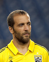 Columbus Crew forward Federico Higuain (33). In a Major League Soccer (MLS) match, the New England Revolution defeated Columbus Crew, 2-0, at Gillette Stadium on September 5, 2012.