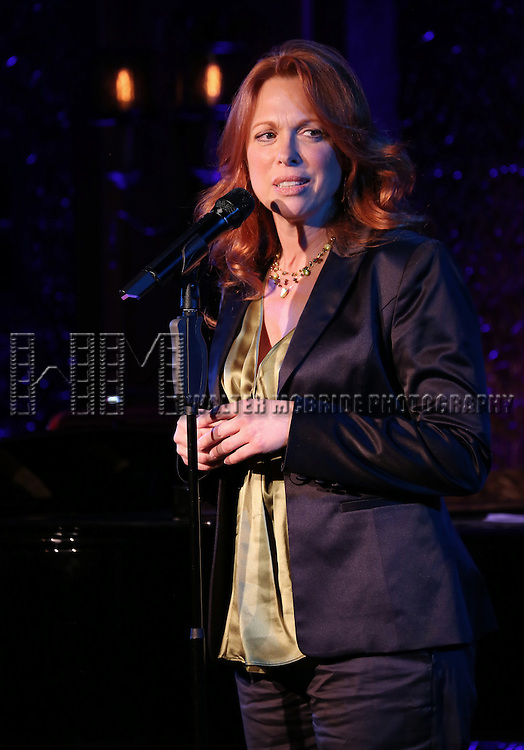 "Carolee Carmello performs A Special Press Preview of their upcoming show ""Broadway Showstoppers!""  at 54 Below on April 4, 2014 in New York City."