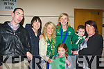Ciearn, Catherine Fleming, Kerry Lynch, Ellie, Louise and Conor Finnegan with Siobhain Fleming at Kerry airport on Monday night